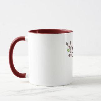 Singrün blüht rohe Nahrung Tasse