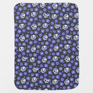 Singrün-Blumen-Power-Schädel Baby-Decke
