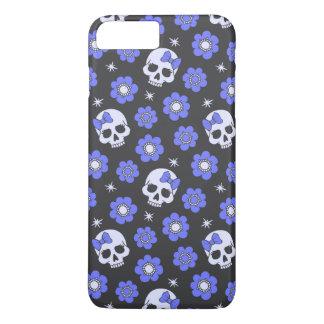 Singrün-Blumen-Power-Schädel iPhone 8 Plus/7 Plus Hülle