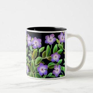 Singrün-Blumen-Rebe-Tasse Zweifarbige Tasse