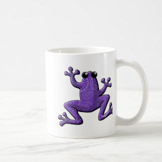 Singrün-weißer Paisley-Frosch Kaffeetasse