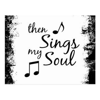 Singt dann mein Soul Postkarte