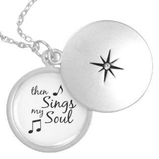 Singt dann mein Soul-Zitat Versilberte Kette