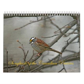 Singvögel des kanadischen Graslands Abreißkalender