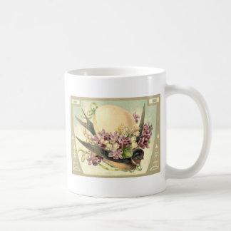 Singvogel-Osterei-Krokus-Maiglöckchen Kaffeetasse