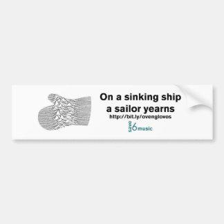 Sinkender Aufkleber des Schiffs JDOG (Quantität 1) Autoaufkleber