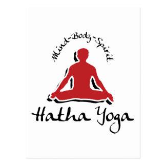Sinneskörper-Geist Hatha Yoga Postkarte