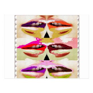 SINNLICHE Lippen küssen Romance Spaß des GESCHENKE Postkarten