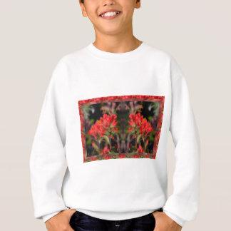 Sinnliche rote exotische Blumen - willkommene Sweatshirt