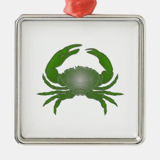 Sinnlicher Fleischfresser Quadratisches Silberfarbenes Ornament