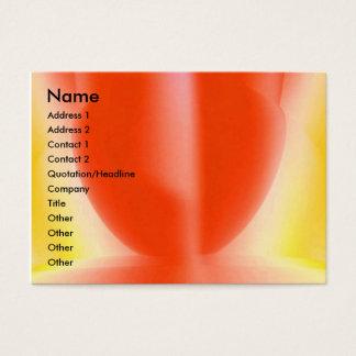 Sinnliches Rot Visitenkarte