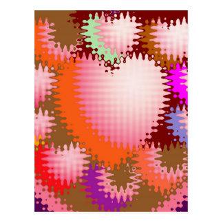 Sinnliches Tickle-Herz-Wellen-Muster Postkarten