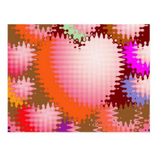 Sinnliches Tickle-Herz-Wellen-Muster Postkarte