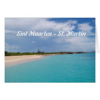 Sint Maarten - St- Martinstrand-Szene Karte