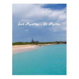 Sint Maarten - St- Martinstrand-Szene Postkarte