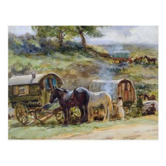 Sinti und Roma Encampment, Appleby, 1919 Postkarte