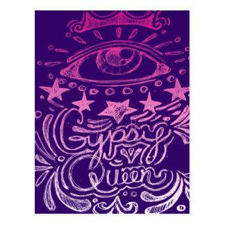 Sinti und Roma-Königin Postkarte