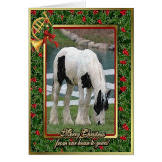 Sinti und Roma-Pfeiler-Pferderaum-Weihnachtskarte Karte