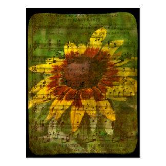 Sinti und Roma-Schatz-Blumencollage Postkarte
