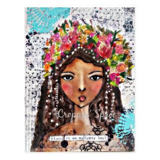 Sinti und Roma-Soul durch Croppin Spree Postkarte