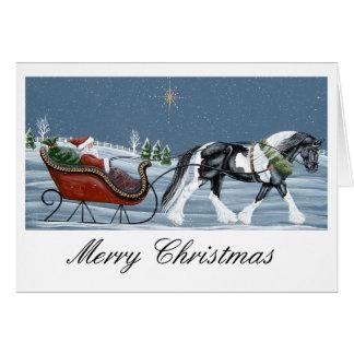 Sinti und Roma Vanner Pferdefrohe Weihnachten Karte