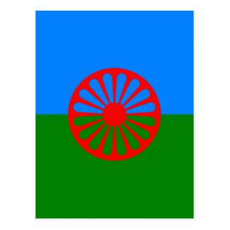 Sinti und Romaflagge Postkarte