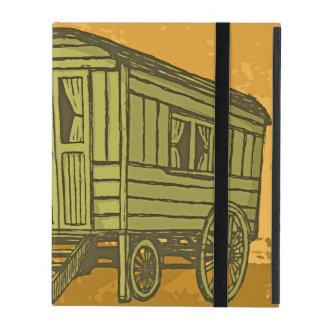 Sinti und Romawohnwagenlastwagen iPad Etuis