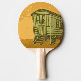 Sinti und Romawohnwagenlastwagen Tischtennis Schläger