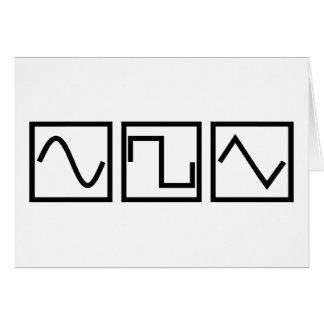 Sinus-quadratisches Tri Grußkarte