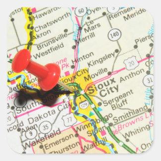 Sioux City, Iowa Quadratischer Aufkleber