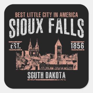 Sioux Falls Quadratischer Aufkleber