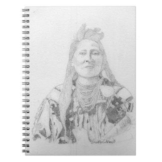 Sioux-Kriegerpointillism-Kunst Notiz Buch