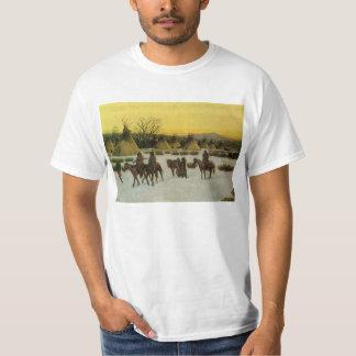 Sioux-Lager an verletztem Knie durch John Hauser T-Shirt