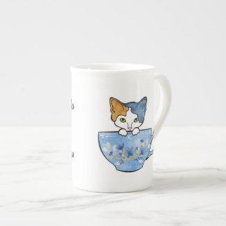 Sip-Tee und Pet meine Katzen-China-Tasse Porzellantasse