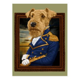 Sir Airedale Terrier Postkarte