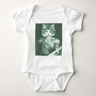 Sir Cat Whiskers Baby Strampler