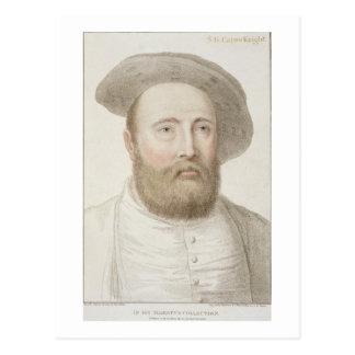 Sir George Carew (b.c.1514) graviert von Francesco Postkarte