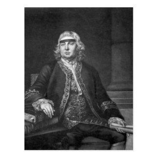 Sir John Fielding, graviert von James McArdell Postkarte