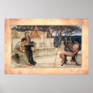 Sir Lawrence Alma-Tadema - Sappho und Alcaeus Poster
