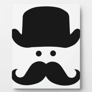 Sir Moustache Fotoplatte