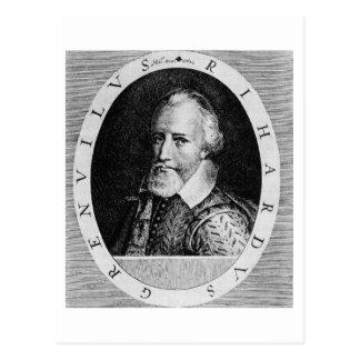 Sir Richard Grenville (c.1541-91), von 'Newe Borte Postkarte