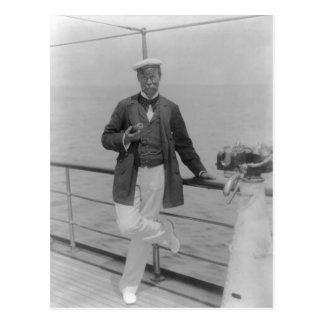 Sir Thomas Lipton an seiner Yacht Postkarte