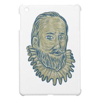 Sir Walter Raleigh Bust Drawing iPad Mini Hülle