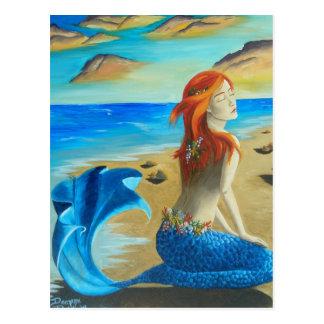 Sirene - Meerjungfrau Postkarte