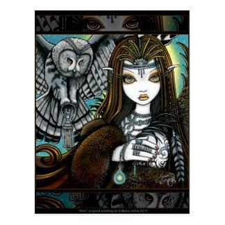 Sirin Eulen-Göttin-Stammes- Tätowierungs-Feen-Post Postkarte
