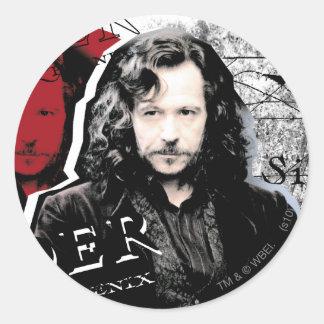 Sirius Schwarzes Runde Sticker