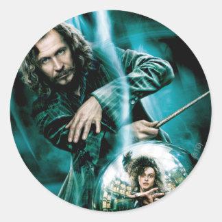 Sirius Schwarzes und Bellatrix Lestrange Runder Aufkleber