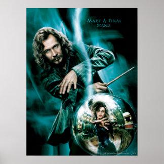 Sirius Schwarzes und Bellatrix Lestrange Plakate