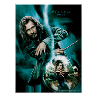 Sirius Schwarzes und Bellatrix Lestrange Poster