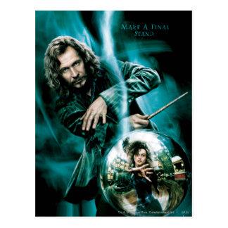 Sirius Schwarzes und Bellatrix Lestrange Postkarte